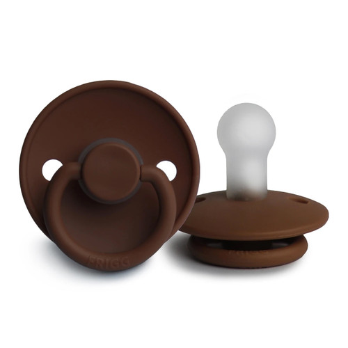 Silicone Pacifier, Milk Chocolate