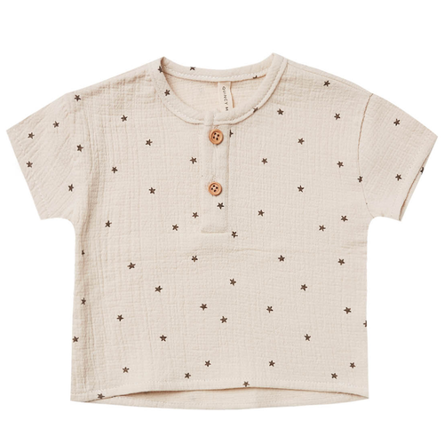 Woven Henry Top, Natural Star