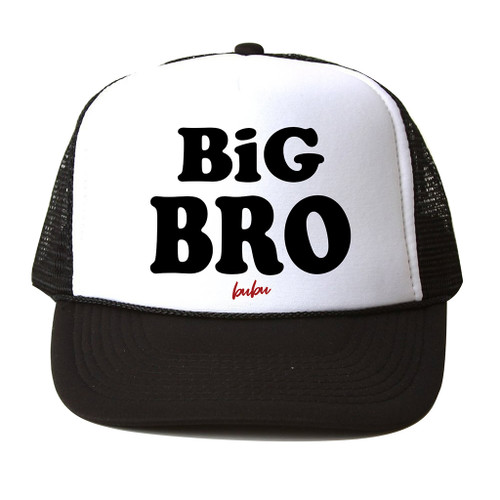 Big Bro Mesh Trucker Hat, Black & White