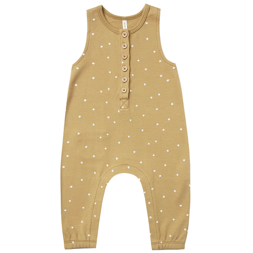 Organic Sleeveless Jumpsuit, Gold Star