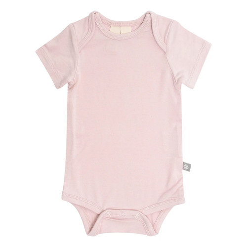 Short Sleeve Bamboo Bodysuit, Blush