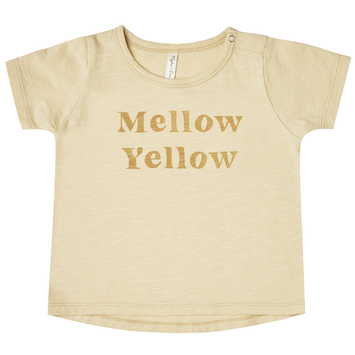 Rylee & Cru Basic Tee, Mellow Yellow