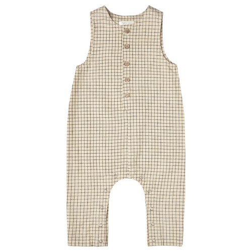 Rylee & Cru Button Jumpsuit, Butter Grid