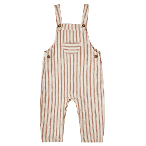 Rylee & Cru Baby Overall, Amber/Natural Stripe
