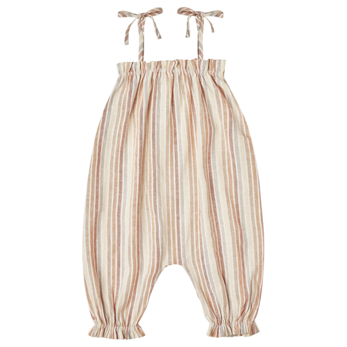 Rylee & Cru Bubble Jumpsuit, Multi Stripe