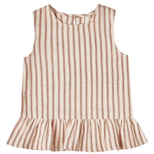 Rylee & Cru Carrie Blouse, Amber/Natural Stripe