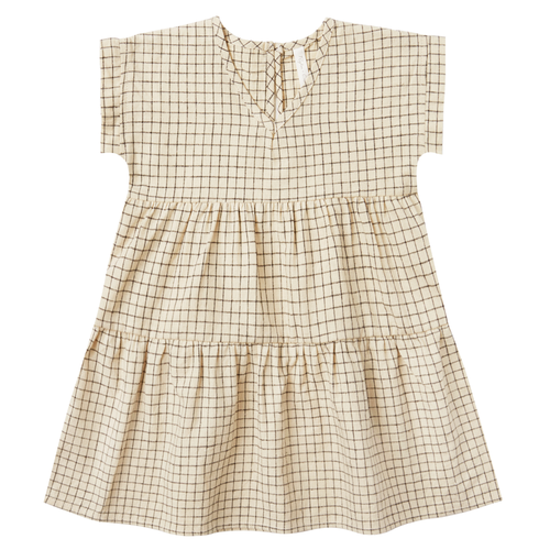 Rylee & Cru Vienna Dress, Butter Grid
