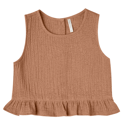 Rylee & Cru Oceanside Top, Terracotta