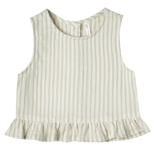 Rylee & Cru Oceanside Top, Sage Stripe
