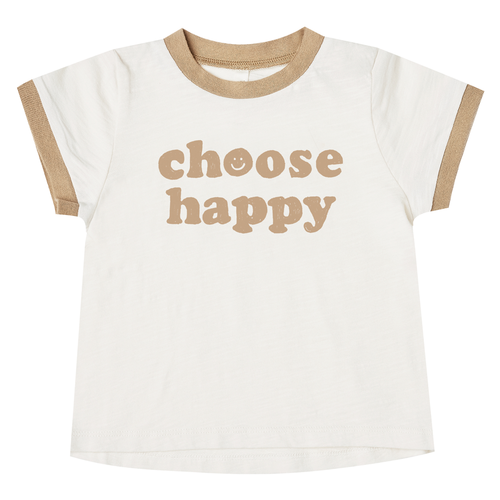 Rylee & Cru Ringer Tee, Choose Happy
