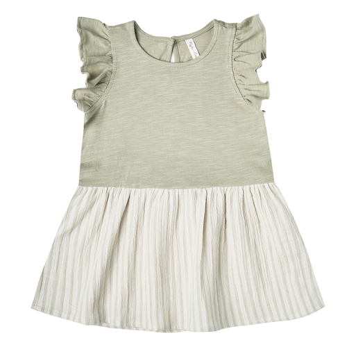 Rylee & Cru Coury Dress, Sage Stripe