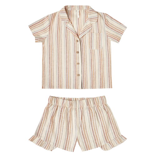 Rylee & Cru Pajama Set, Multi Stripe