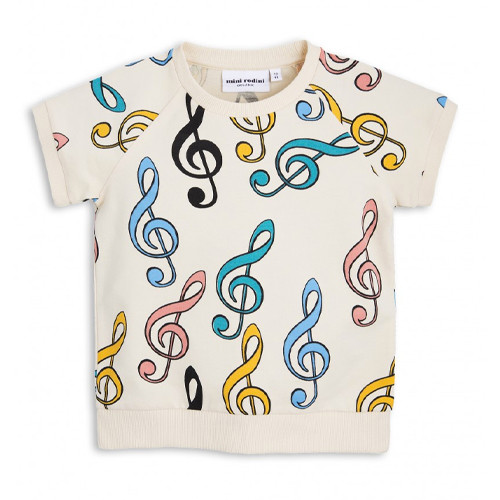 Mini Rodini Short Sleeve Sweatshirt, Clef