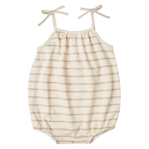 Rylee & Cru Nola Bodysuit, Almond/Natural Stripe