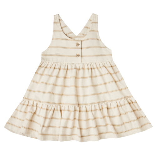 Rylee & Cru Ruby Swing Dress, Almond/Natural Stripe