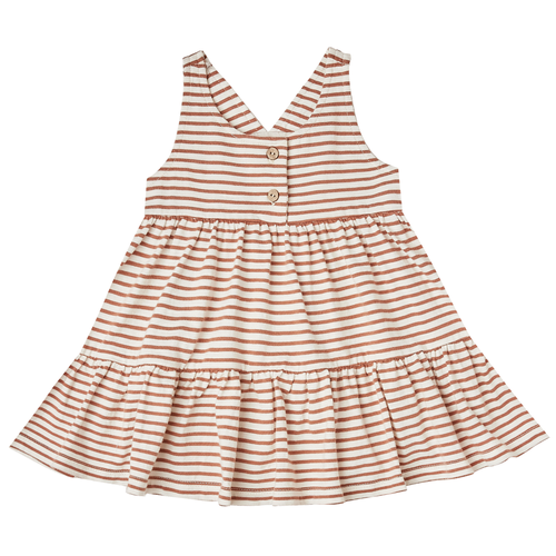 Rylee & Cru Ruby Swing Dress, Amber/Ivory Stripe