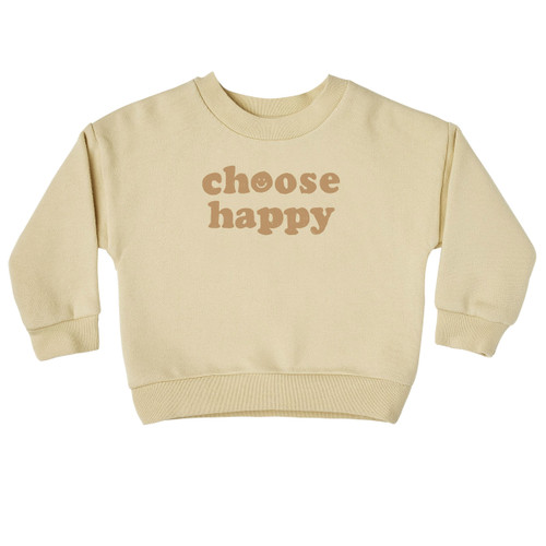 Rylee & Cru Crewneck Pullover, Choose Happy