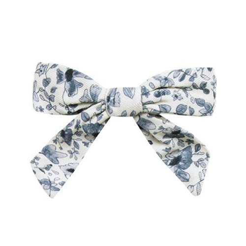 Rylee & Cru Girl Bow, Blue Floral