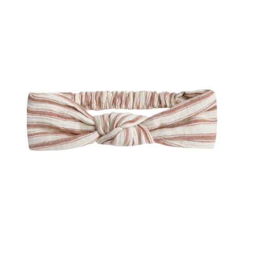 Rylee & Cru Knotted Headband, Amber/Natural Stripe