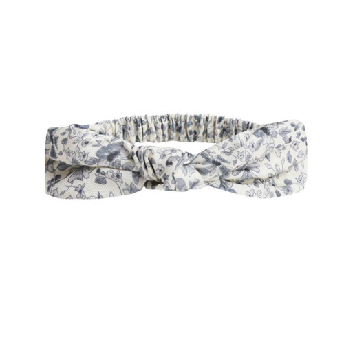 Rylee & Cru Knotted Headband, Blue Floral