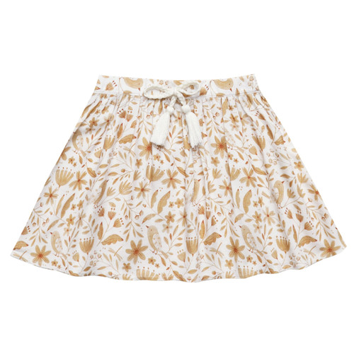 Rylee & Cru Mini Skirt, Garden Birds