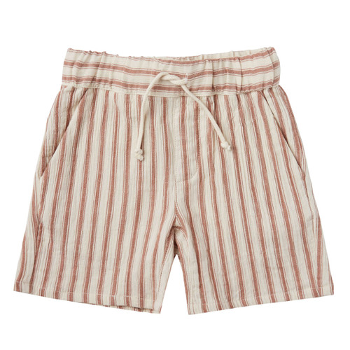 Rylee & Cru Bermuda Short, Amber/Natural Stripe