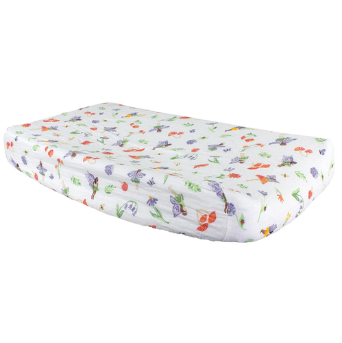 Muslin Changing Pad Cover, Woodland Fairy