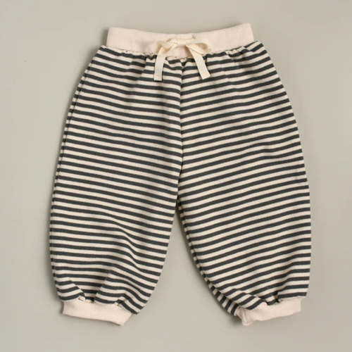 Organic French Terry Sweatpant, Stripes