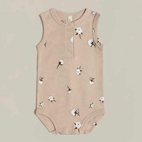 Organic Sleeveless Bodysuit, Cottonfield