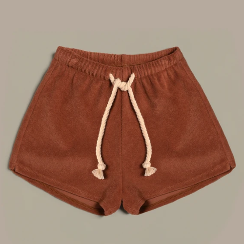 Organic Terry Shorts, Deep Earth