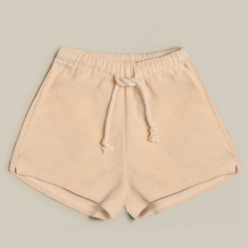 Organic Terry Shorts, Pebble