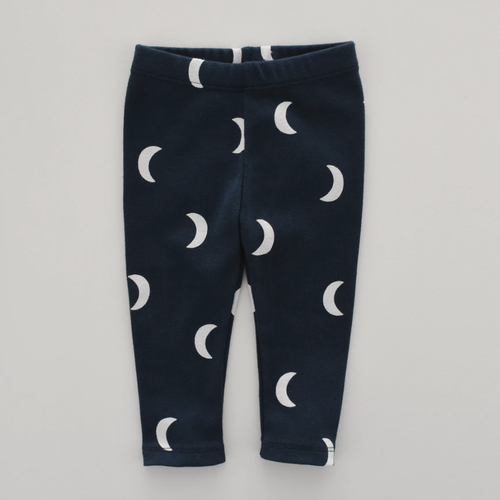 Organic Cotton Leggings, Navy Midnight