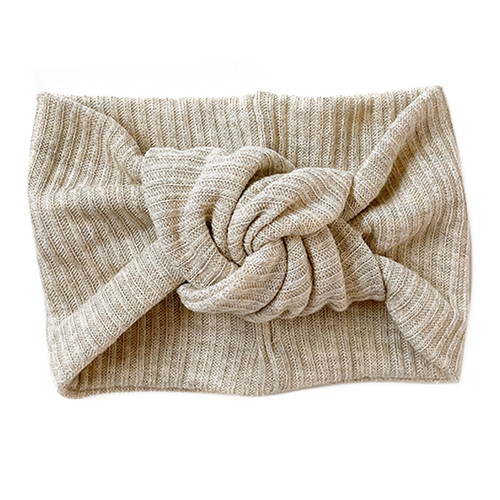 Twist Knot Headband, Heathered Oatmeal