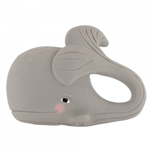 Natural Rubber Teething Toy, Gorm the Whale