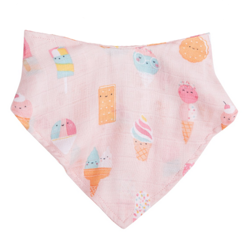 Bandana Bib, Ice Cream Pink