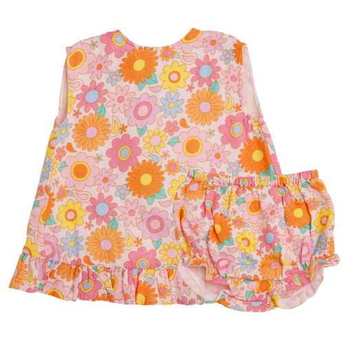Ruffle Top & Bloomer, Retro Daisy