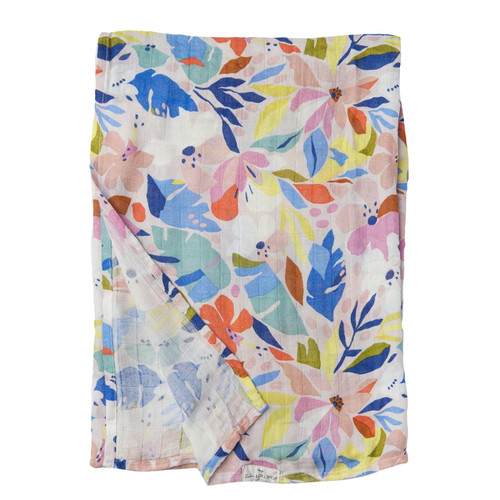 Muslin Swaddle, Hawaiian Floral