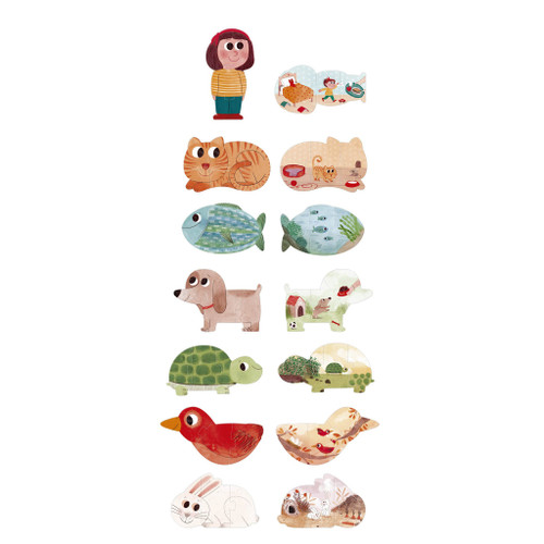 I Love My Pets Reversible Puzzle Set