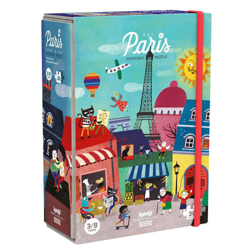 Night & Day in Paris Reversible Puzzle