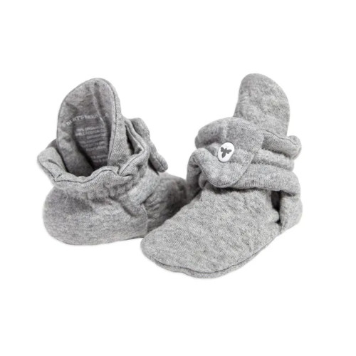Burt's Bees Baby Organic Quilted Booties, Heather Grey