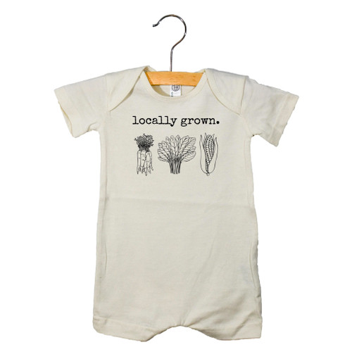 Graphic Romper, Locally Grown
