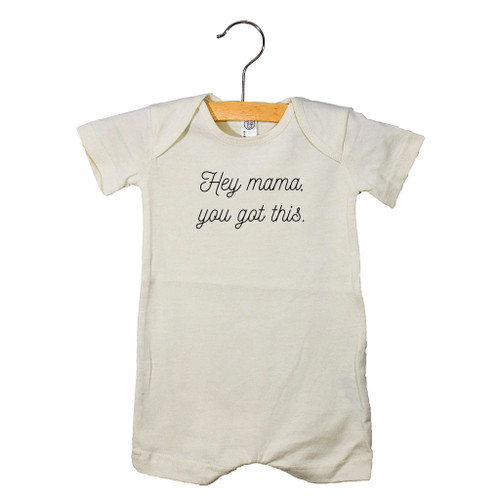 Graphic Romper, Hey Mama You Got This