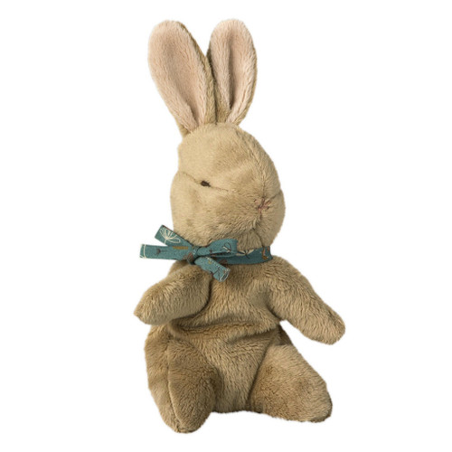 Baby Bunny, Brown with Blue Ribbon