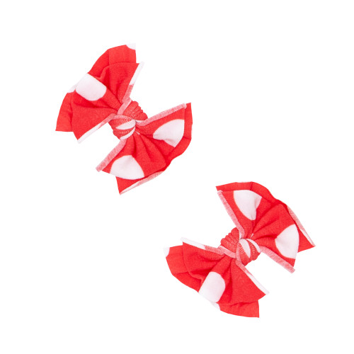 2-Pack Baby FAB Clips, Red Polka Dot