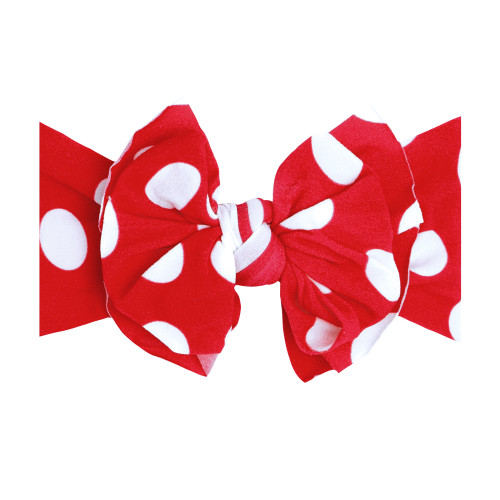 FAB-BOW-LOUS Bow, Red Polka Dot