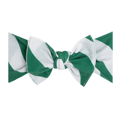 Knot Bow, Green/Silver