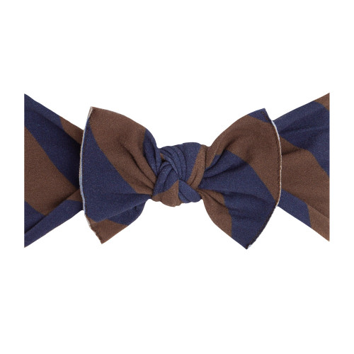 Knot Bow, Navy/Bronze