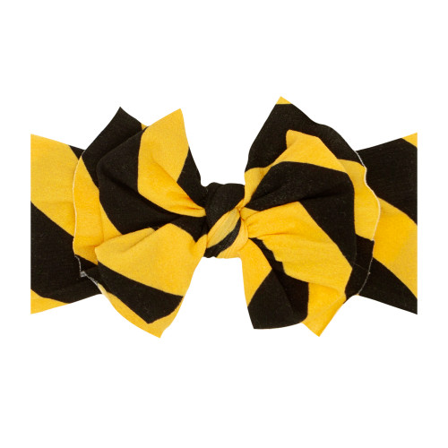 FAB-BOW-LOUS Bow, Black/Mustard