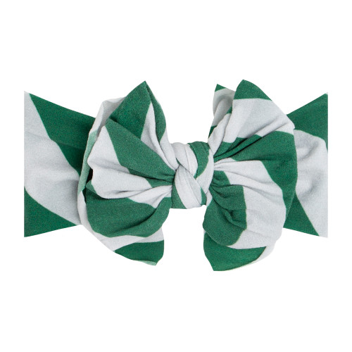 FAB-BOW-LOUS Bow, Green/Silver