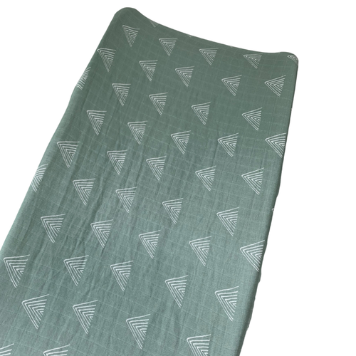 Muslin Changing Pad Cover, Sage Mountain